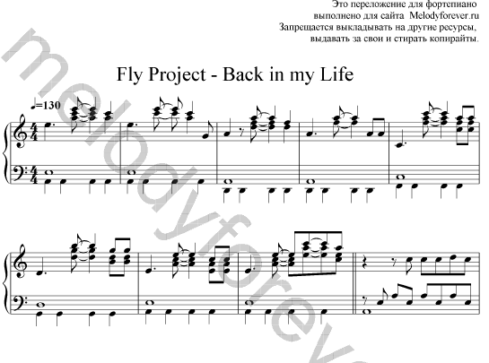 Fly Project-Back in my Life